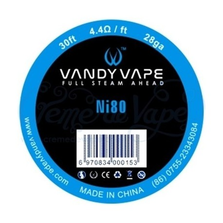 Ni80  WIRE 28ga - VANDY VAPE