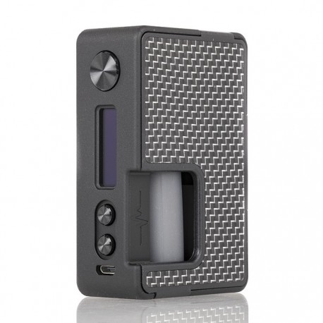 PULSE BF 80W BOX MOD CARBON FIBER SILVER BLACK- VANDY VAPE