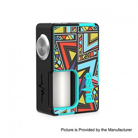 Pulse BF Box Mod NEW STICKER CYAN - Vandy Vape