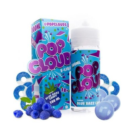 BLUE RAZZ CANDY 100ml - POP CLOUDS