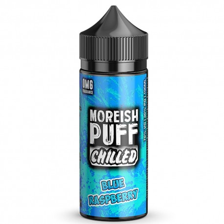 CHILLED BLUE RASPBERRY 100ML - MOREISH PUFF