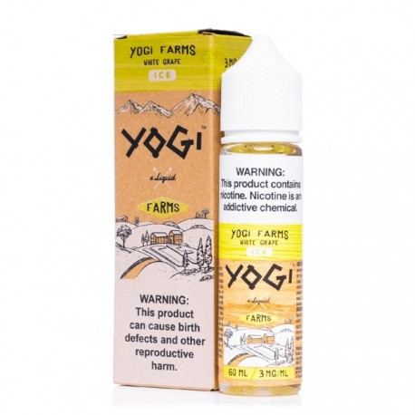 YOGI FARMS WHITE GRAPE ICE 50ML 0MG - YOGI